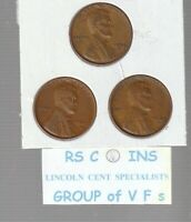 1948S &  1949S  &  1950S       FINES    LINCOLN  CENT  3  COIN  SET