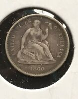 1860 P SEATED LIBERTY HALF DIME DETAILS