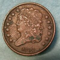 1832 CLASSIC HEAD HALF CENT XF DETAILS   US COIN