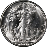 1944-S WALKING LIBERTY HALF PCGS MINT STATE 63 DECENT EYE APPEAL FANTASTIC LUSTER STOCK