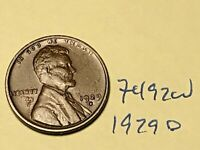 1929 D LINCOLN CENT   PREMIUM COLLECTION 7492W WHEAT CENT
