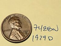 1929 D LINCOLN CENT   PREMIUM COLLECTION 7488W WHEAT CENT