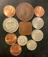 OLD MALAYA COIN LOT   1900 1962   11 UNCOMMON VINTAGE COINS