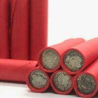 SILVER BARBER DIME  ON  LINCOLN WHEAT PENNY ROLL OLD US COINS CENT 1909 1956