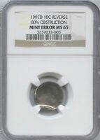 1997 D 10 80  UNIFACE REV. NGC MS 65