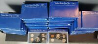 75 X 1971 S PROOF SETS FLAT RATE BOX FULL  OF 75 FIVE COIN S