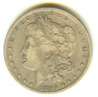 1895 O MORGAN DOLLAR FINE IN GRADE NEW ORLEANS MINT KEY DATE