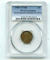1909 S V.D.B LINCOLN WHEAT CENT  XF  PCGS   THE KING OF LINC