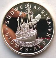 NAMIBIA 1988 100TH ANNIVERSARY OF GERMAN CONOLY 1OZ SILVER COIN PROOF