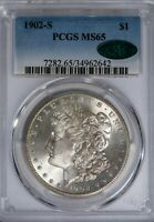 1902-S MORGAN PCGS MINT STATE 65 CAC-VERIFIED TOUGHER DATE SILVER DOLLAR GEM