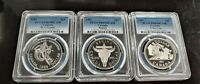 1981 1982 1983 SET OF 3 SILVER CANADIAN DOLLAR COINS PCGS PR