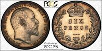 W18 GREAT BRITAIN 1902 6 PENCE PCGS MATTE PROOF 62