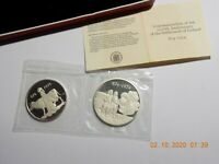 874 1974 ICELAND TWO COIN PROOF SET 500 KRONUR & 1000 KRONUR IN ORIG. BOX W/ COA