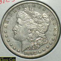 1892-S MORGAN SILVER DOLLAR $1 EXTRA FINE  DETAILS TOUGHER DATE