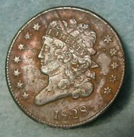 1828 CLASSIC HEAD HALF CENT XF DETAILS   UNITED STATES COIN