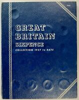 GB WHITMAN 9690 SIXPENCE COLLECTION   1937   1967 X 33 COINS