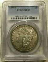1889 S MORGAN SILVER DOLLAR PCGS GRADED EXTRA FINE  45 CHOICE EXTRA FINE