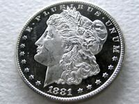 1881-S MORGAN DOLLAR - ULTRA-DMPL FROSTED CAMEO MIRRORED OBVERSE 3-17-D