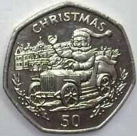 GIBRALTAR 1993 50 PENCE  CHRISTMAS  EXCEPTIONAL UNCIRCULATED