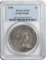 1798 BUST SILVER DOLLAR LARGE EAGLE VF35 PCGS