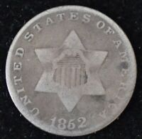 1852 TYPE ONE  GOOD THREE CENT SILVER