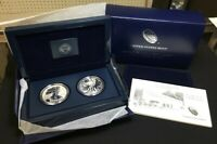 2013 SILVER EAGLE WEST POINT SET REVERSE PROOF & ENHANCED UNCIRCULATED