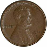 1911-S LINCOLN CENT, EF, UNCERTIFIED