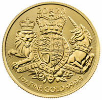 2020 GREAT BRITAIN 1 OZ GOLD ROYAL COAT OF ARMS COIN GEM BU SKU60668