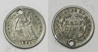 X1260  1851-O LIBERTY SEATED HALF DIME H10C, EXTRA FINE  DETAILS