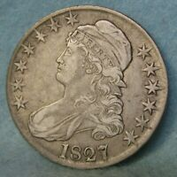 1827 CAPPED BUST SILVER HALF DOLLAR   UNITED STATES COIN