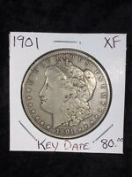 1901-P MORGAN SILVER DOLLAR PHILADELPHIA MINT EXTRA FINE  KEY DATE COIN