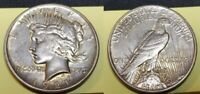$1 1921 HIGH RELIEF PEACE SILVER DOLLAR AU DETAILS CLEANED