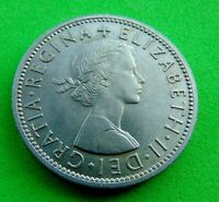 A  BU  GEM  ELIZABETH  II   1957   TWO  SHILLINGS 2/    LUCI