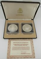 1978 BAHAMAS 5TH ANNIVERSARY  2  $10 COIN SILVER PROOF SET W