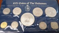 1971 COINS OF THE BAHAMAS SILVER UNCIRCULATED COIN SET