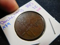 A74 DANISH WEST INDIES 1913 CENT XF