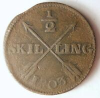 1803 SWEDEN 1/2 SKILLING   EXCELLENT UNCOMMON DATE COIN   LO