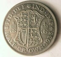 1933 GREAT BRITAIN 1/2 CROWN   HIGH QUALITY VINTAGE SILVER C