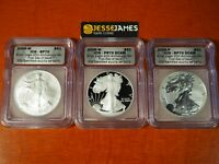 2006 P REVERSE PROOF SILVER EAGLE ICG PR70 FIRST DAY ISSUE 20TH ANNIVERSARY SET