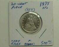 1875 SEATED LIBERTY 20 CENT PIECE 90  SILVER