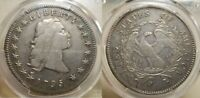 1795 $1 FLOWING HAIR SILVER DOLLAR 3 LEAVES PCGS EXTRA FINE  40