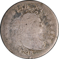 1798 BUST DIME 16 STARS GISH DECENT EYE APPEAL