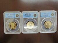 2009 SDP $1 TAYLOR PRESIDENTIAL 3 COIN SET - FIRST STRIKE LTD. EDITION - ANACS