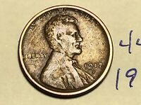 1917-S LINCOLN WHEAT SMALL CENT PENNY 4426K