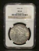 1904 MORGAN DOLLAR NGC MINT STATE 64