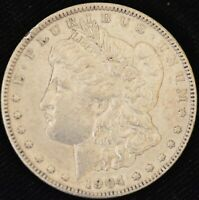 1904  FINE MORGAN SILVER DOLLAR