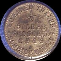 GERMAN STATES PRUSSIA 1846 & 1847 TWO OLD COINS