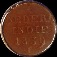DUTCH EAST INDIES 1839 & 1859 CENTS TWO OLD COINS