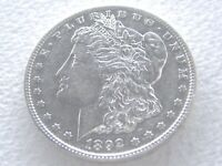 1892-S MORGAN SILVER DOLLAR, SHINY REFLECTIVE EXTREME DETAIL - 6-18-M