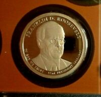 2014 -S FRANKLIN D.ROOSEVELT  PROOF D/CAM PRESIDENTAL  DOLLAR BEAUTIFUL COIN FSH
